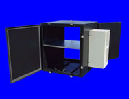 Nemaco&#8482 - Outdoor NEMA 3R, 4 Computer Server Enclosures with Shelves- Air Conditioned, Environmental Cooling