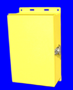 Nemaco&#8482 - Custom NEMA 3R - Metal Enclosure, Yellow Powder Coated, Nemaco Technology, LLC - USA